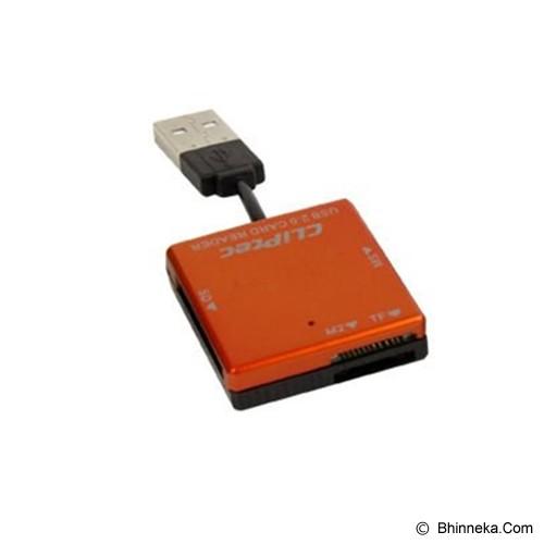CLIPTEC BASIC-4 USB Card Reader [RZR507] - Orange - Memory Card Reader External